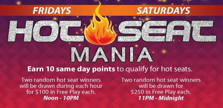 Win Free Play During Hot Seat Mania At Mole Lake Casino Lodge In Crandon Wisconsin