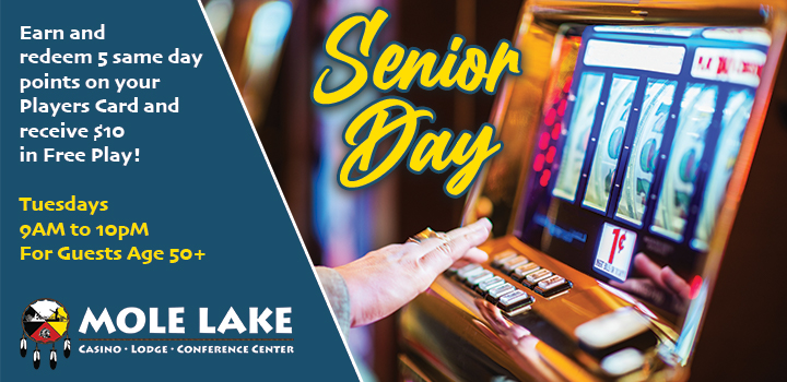 Mole Lake Casino Lodge Offers The Best Senior Day Deal In Wisconsin