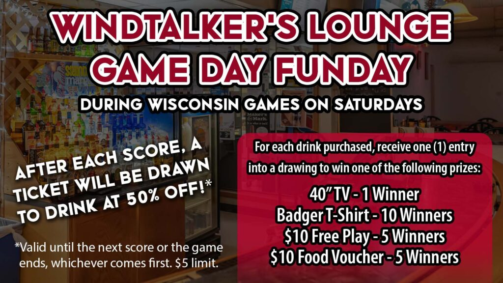 Watch College Football At Mole Lake Casino In Crandon For Your Chance To Eat, Drink, and Win